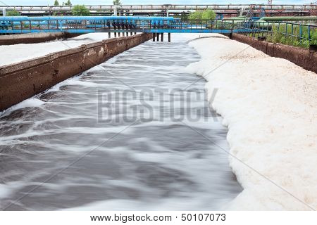 Oxygen aeration in wastewater treatment plant