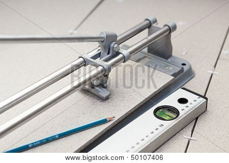 Instruments For Tile Marking When Cutting With Tilecutter