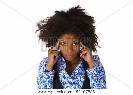 African American Woman Feels Sick