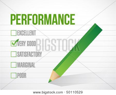 Very Good Performance Review Illustration