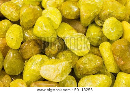 Yellow semiprecious stones
