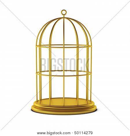 3D Render Of Bird Cage
