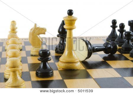 Chess; Game Over. Isolated On White Background