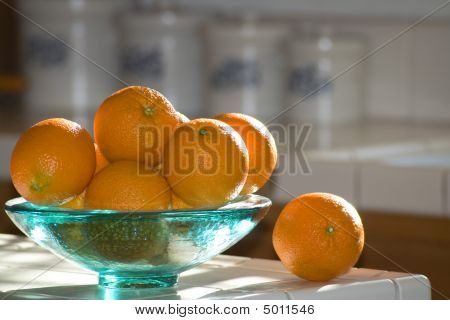 Recycled Glass Bowl Of Oranges2