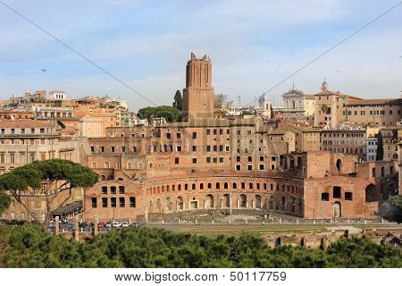Forum Of Trajan In Rome