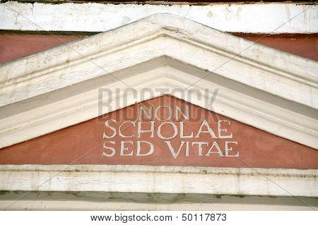 Non Scholae Sed Vitae