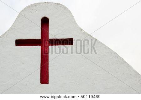 Red Crucifix In Sancta Eularia