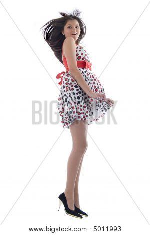 Jumping Romantic Girl