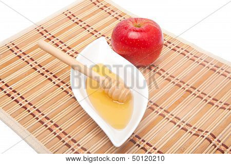 Red Apple And Honey