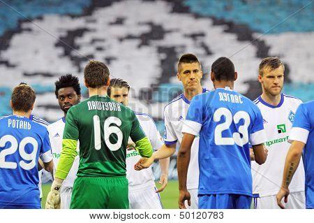 Football Game Fc Dynamo Kyiv Vs Fc Dnipro