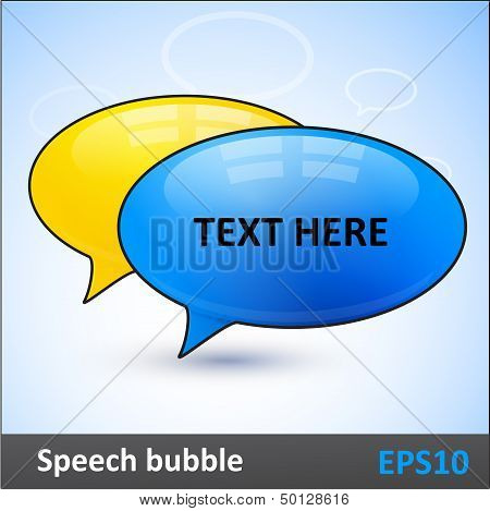 Speech bubbles dialogue vector elements