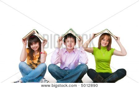 Group Of Students Studing Together