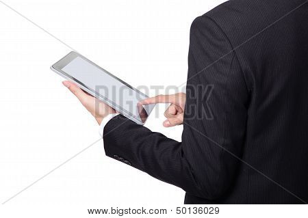 Business Man Using Touch Pad