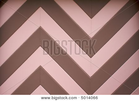 Color Chevron Garage Door Design