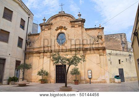 St. Maria degli Angeli Church. San Vito dei Normanni. Puglia. Italy.
