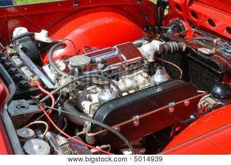 Tr4 Engine Bay