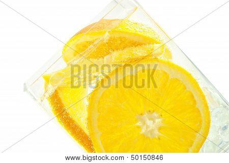 Refreshing Bubbling Orange Club Soda
