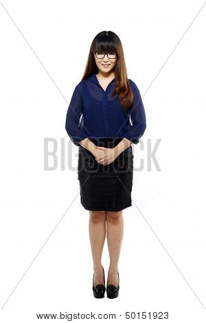 Fullbody Business Woman Smiling