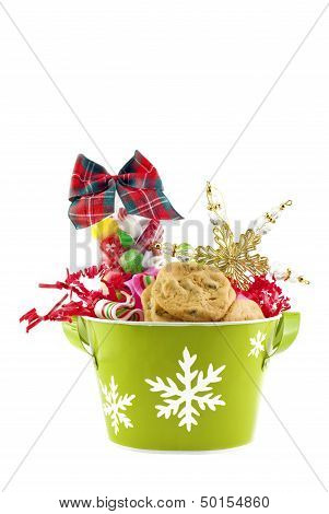 Christmas Container With Cookies And Candy