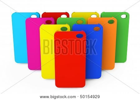 Multicolor Plastic Mobile Phone Cases