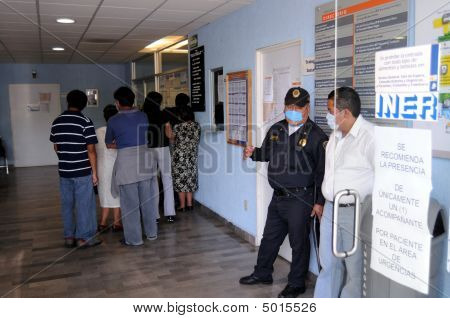 Patients Waiting In Mexican Hospital