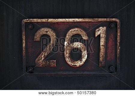 Old Metal Number Tag