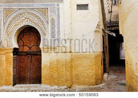 Street scene in Meknes, Morocco, Africa