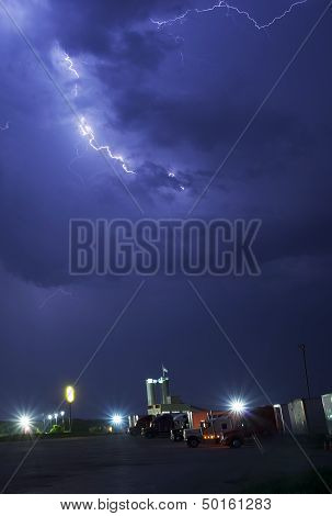 Stormy Truck Stop