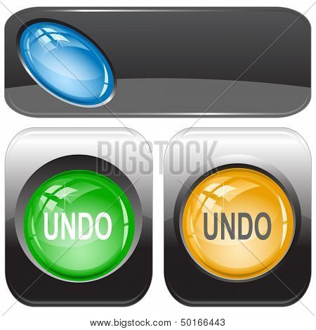 Undo. Internet buttons. Raster illustration. Vector version is in my portfolio.