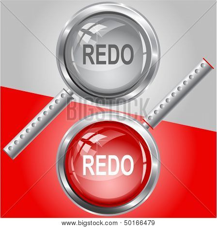 Redo. Raster magnifying glass. Vector version is in my portfolio.