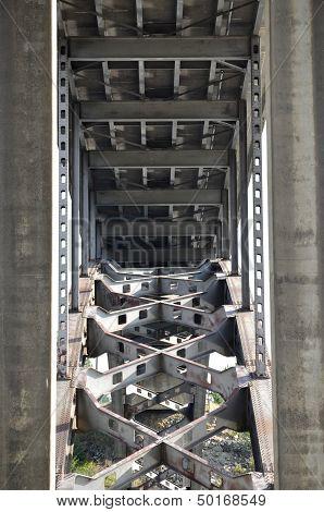Structure Under a Bridge