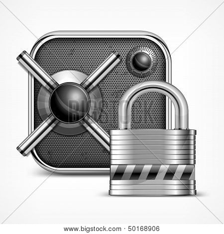 Safe Icon & Padlock