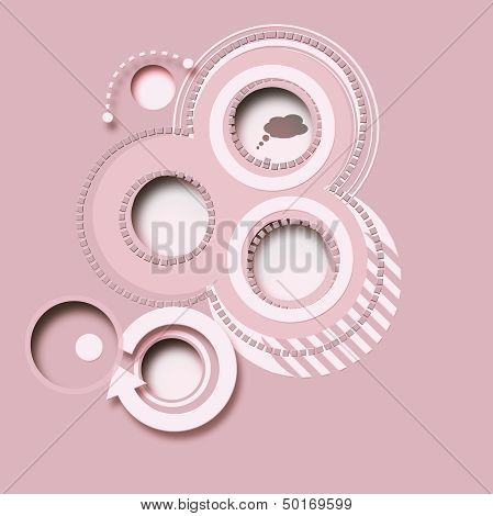 Pink Abstract Background, Buttons 2D