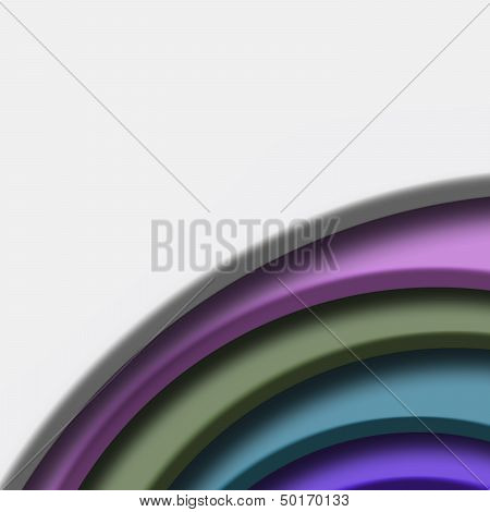 White Background, Color Cardboard Cut Corner