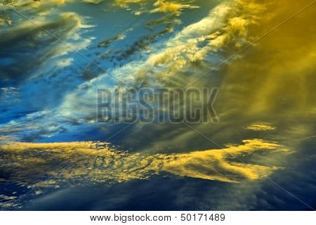 Beautiful Sunset Clouds in Many Colors
