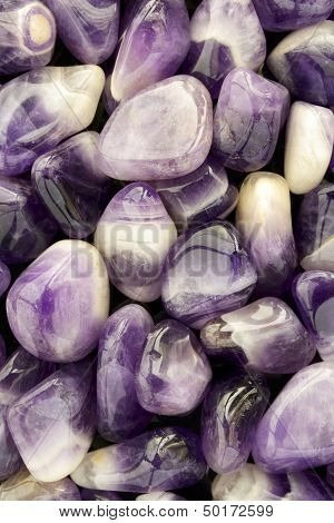 Large Tumbled Amethyst Background