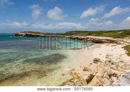 Beautiful Rustic Rocky Tropical Beach Antigua