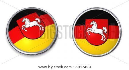 Banner Button Lower Saxony niedersachsen germany