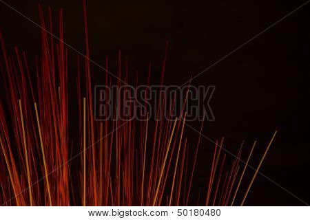Abstract Background Of Red Sticks