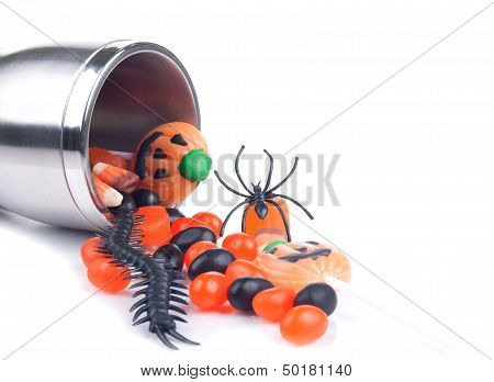Halloween Cup Spilling Candies