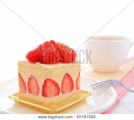 Sweet Cake With Strawberry