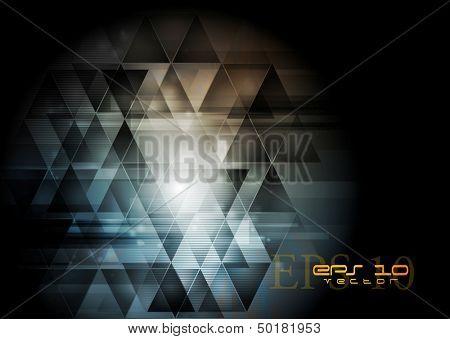 Abstração escuro tecnologia criativa. Vector design eps 10