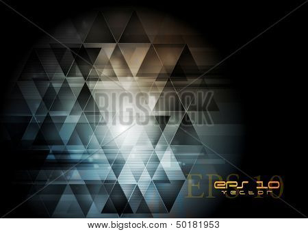 Creative technology dark abstraction. Vector design eps 10