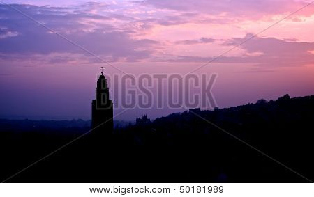 St. Anne's Church in Silhouette, Shandon, Cork