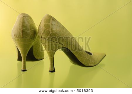 Green High Heel Shoes
