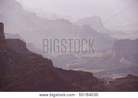 Hazy Canyon Scenery