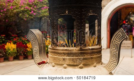 chinese incense urn