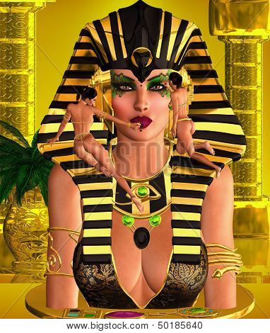 Makeup for Pharaoh Queen