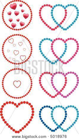 Hearts Made Of Dots