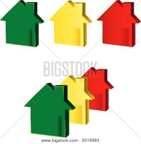Houses Green Yellow Red